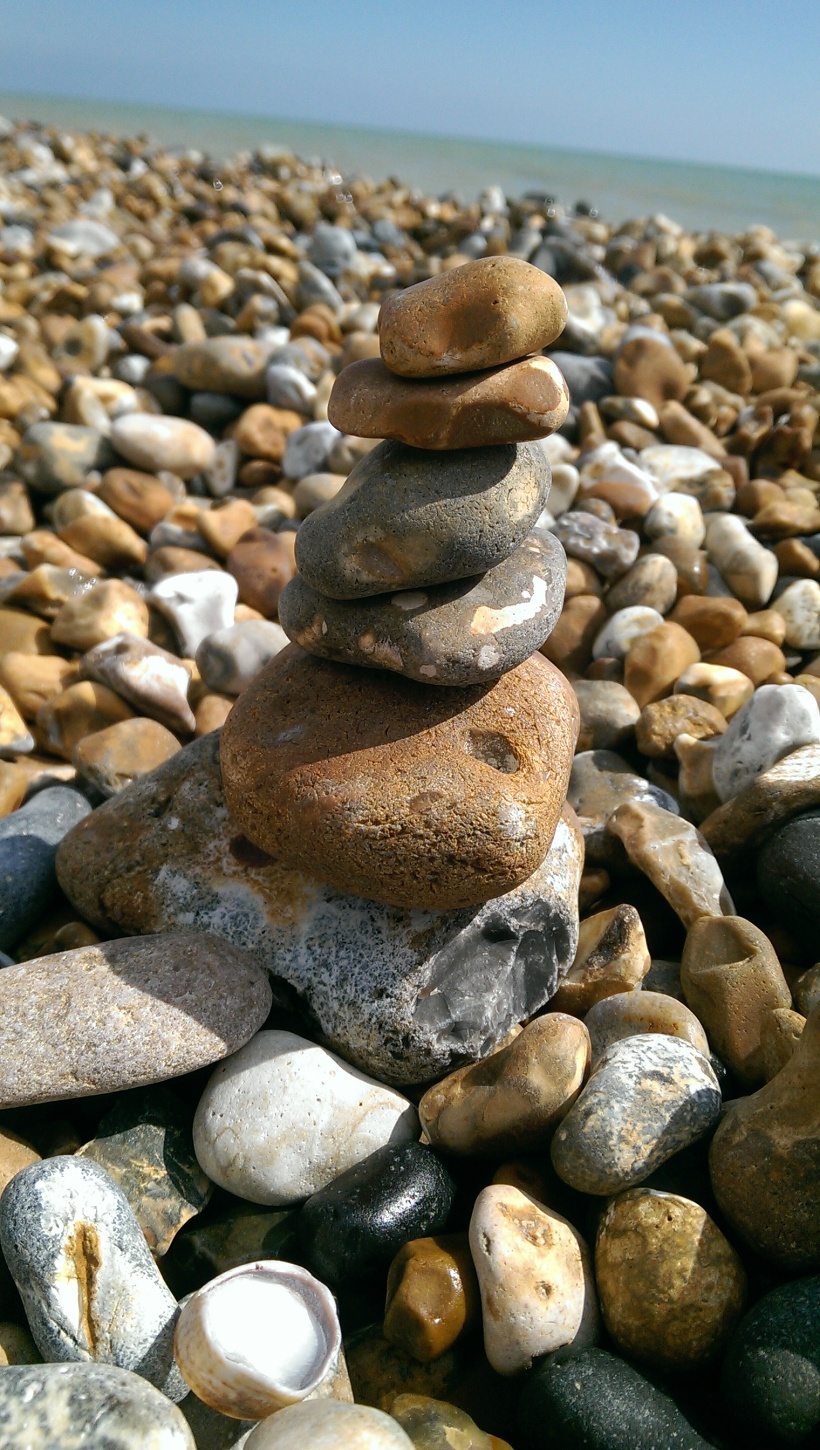 pebbles, beach, south coast england