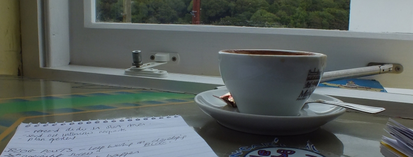 coffee and writing, coffee shop