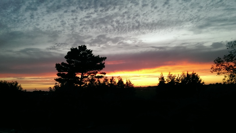 sunset in sussex, landscape, horizon