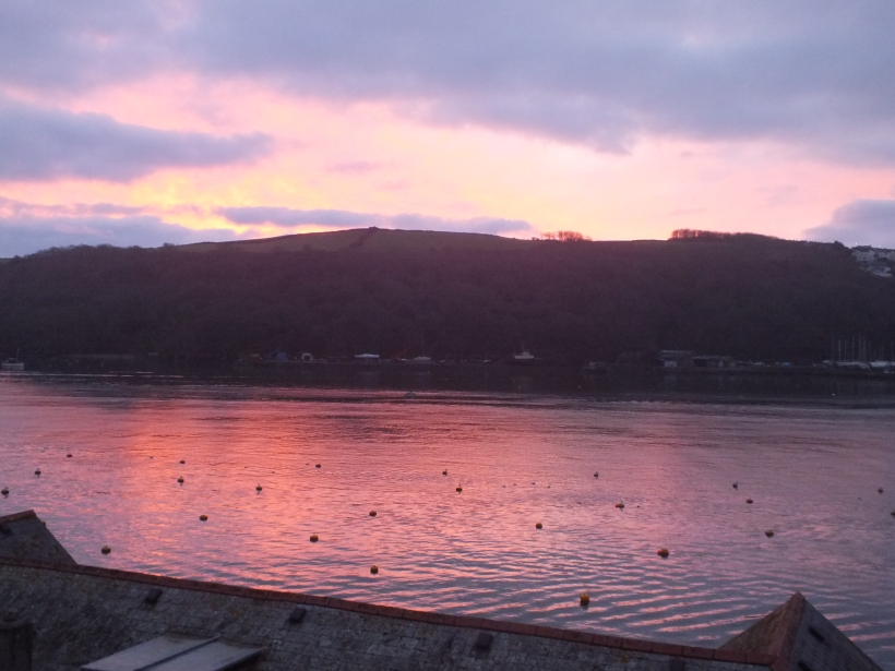 sunrise in fowey, winter